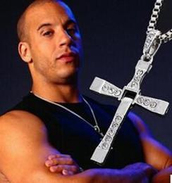 Nuova Collana Fast and Furious 7 Moive Cross Tourette Collana Dominic Toretto Croce in argento placcato oro per gli uomini da base di profumo fornitori