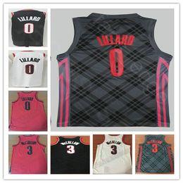 Wholesale Fast Cheap - 2018 New Style Black Wholesale #0 Damian Lillard Jersey Red White Cheap Mens #3 CJ McCollum Basketball Jerseys Free Fast Shipping