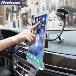 Держатели планшета онлайн-Universal 9.5 10 11 to 14.5 inch tablet pc stand stong suction tablet car holder for Ipad 2 3 4 ipad air 9.7 12.9 inch Pro