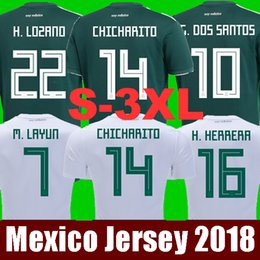 Wholesale xxl women tops - Top Thailand MEXICO SOCCER JERSEYS 2018 world cup CHICHARITO LOZANO DOS SANTOS LAYUN Mexico football kit shirt camisetas de futbol Men Women