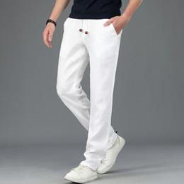 27b271b0a9df mens lightweight cargo trousers Promo Codes - M~4XL 2018 Summer Mens 100%  Linen