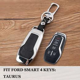 Tampas da chave do mondeo on-line-Para Ford Taurus Mustang F-150 Explorador Fusão Mondeo Edge Car inteligente chave fob tampa da caixa de shell Set Bag Holder