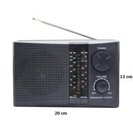 altavoces antiguos Rebajas Nuevo receptor de radio portátil grande con 4 bandas FM / AM / SW Radio Pocket con altavoz incorporado Regalo para viejo buen producto