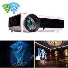 menor tv lcd Desconto LED projetor de cinema em casa 100 polegadas tela como presente full hd LED Android tv 4.4 usb wi fi beamer Media Player Airplay Poner Saund