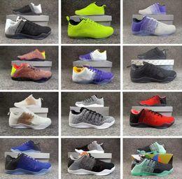 low priced 73093 6d214 2018 Chaude 12 Couleurs kobe 11 XI Elite BHM Eulogy Noir Ciment Chaussures  De Basketball pour Haute qualité KB 11s Hommes Baskets Baskets Taille40-46