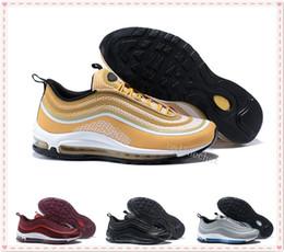 Wholesale Newest Designer Sneakers - Newest Men Women 97 Ultra UL PRM Tripel White Metallic Gold Silver Bullet WHITE 3M Premium Zapatillas Designer Sneakers Size 36-46