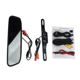 Wholesale rear vision mirror reverse camera - 4.3'' LCD HD Car Rear View Mirror Monitor LED Night Vision Reverse Backup Camera Futural Digital JULL17