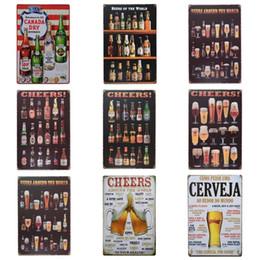 2019 sinal de boas-vindas Copo de cerveja Elogio Projeto Lata Cartaz Estilo Retro Latas Sinal Garrafa De Vinho Pintura De Ferro Para Bar E Night Club Exagerado Atmosfera 20 * 30 cm Z desconto sinal de boas-vindas