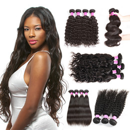 Wholesale Brazilian Hair Bundles Body Wave Water Wave Human Hair Straight Kinky Curly Hair Deep Wave Bundles 5 6 10 Pcs A Lot Coupons