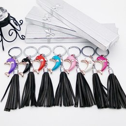 Wholesale Anchor Manufacturers - The latest explosion fringed Dolphin Pendant Keychain Key Ring fashion wholesale manufacturers selling