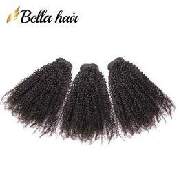 tesse afro Sconti Bella Hair® capelli brasiliani 9A Afro crespo ricci 10-24 pollici fasci di capelli indiani malesi cambogiani peruviani tessuti per capelli vergini spedizione gratuita
