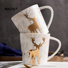 2019 regalos en forma de camara NOCCOL Tazas de cerámica Contenedor de agua Venado Copas y Tazas Hogar Escuela Oficina Taza de café Drinkware Creativo Regalo de Navidad