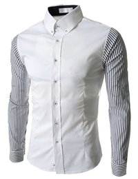 Wholesale Korean Fashion Clothes For Men - White Social Office Shirts for men Korean fashion men's shirts long-sleeved shirts Clothing for man M-2XL