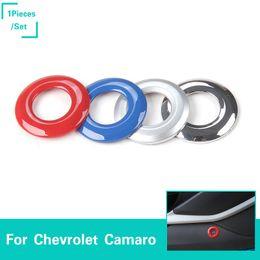 Porte arrière coffre bouton ouvert commutateur décoration anneau de couverture garniture pour Chevrolet Camaro 2017+ accessoires de voiture ? partir de fabricateur