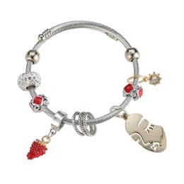 2019 traubencharme armband TOP SALE Antik Silber Charm Armband Armreif mit Trauben Perlen Frauen Hochzeit günstig traubencharme armband