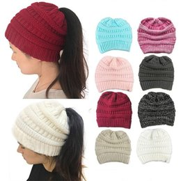 Wholesale Cable Knit Beanie Hat Wholesale - C and C Hats C Knitted Winter Caps Trendy Beanie Keep Warm Chunky Head Caps Soft Cable Knit Slouchy Crochet Hats Party Hats Fashion Outdoor