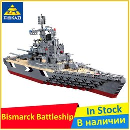 Wholesale Kazi Blocks - KAZI KY82012 WW 2 The Bismarck battleship Compatible Military Educational Building Block Brand new Display Model Toys for Boys