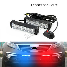 Wholesale Flashing Strobe Lights For Trucks - free shipping 12W led strobe light grill amber warning flashing lamp for SUV F150 F250 offroad motorcycle 4x4 truck trailer warning safety