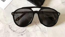 Wholesale women s eye glasses frames - Fashion GV7076 S Pilot Sunglasses Black Grey Gradient 56mm Designer SONNENBRILLE Sun Glasses Eyewear New with Box