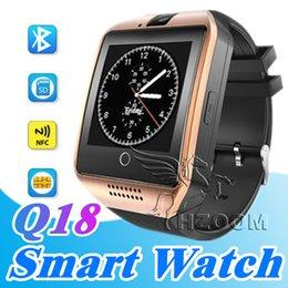 Argentina Mejor Q18 Bluetooth Smart Watch Soporte SIM Card NFC Conexión Salud Smartwatches para Android Smartphone con cámara Podómetro Suministro