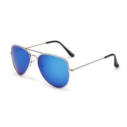 blaue brillengestelle Rabatt Mode blau designer sommer reise tragbare brille unisex metallrahmen brillen brillen sonnenbrillen farbfilm brille