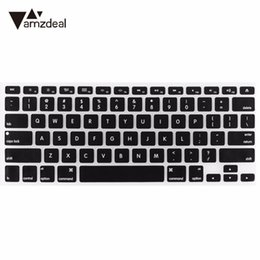 macbook pro haut fall Rabatt Amzdeal Soft Silikon Tastatur Beschützer Skin für Mac Pro 13 15 Zoll schwarz Case für MacBook