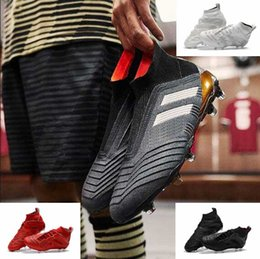 Wholesale 18 High Heels - Hot High Ankle Boots ACE Predator 18+ FG Copa Tango TF ic Soccer Shoes Mens Outdoor Indoor Predator Football Accelerator Soccer Cleats