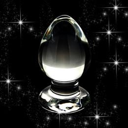 2019 anal-glas-steckdosen 100x60mm Super Große Größe Glas Analplug Glatte Kegel Kristallglas Große Butt Plug, Männer Frauen Sexspielzeug Erwachsene Geschlechtsprodukte günstig anal-glas-steckdosen