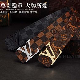 Wholesale Top Brand Belts For Men - 2018 Famous TOP Quality Mens Belt Luxury Brand LOUIS Designer Belts For Men And Women Business VUITTON Belts For Men Girdle Freeshipping