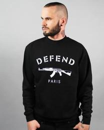 2019 pistolets taser Livraison gratuite nouveau polaire de marque Lettres DEFEND PARIS Sportwear Sweats à capuche et Hip pop promotion pistolets taser