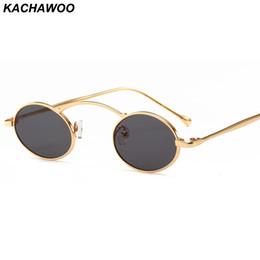vetri incorniciati rossi all'ingrosso Sconti Kachawoo all'ingrosso 6pcs piccoli occhiali da sole da uomo piccola rotonda struttura in metallo oro rosso retrò occhiali da sole per le donne unisex regalo di decorazione