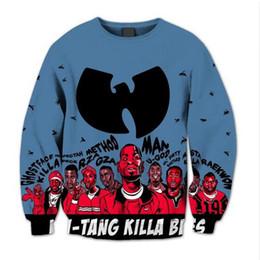 2019 wu tang hoodies Sublimação impressão Wu Tang Clan camisola 3D Crewneck Sweatshirt streetwear fleece plus size O-Long Neck Sleeve Hoodies desconto wu tang hoodies