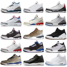 f30b64cea2fe 2019 Nuevo Mejor Calidad Hombres 3 Zapatillas de baloncesto 3s Hombres  Negro Cemento Blanco Corea Katrina OG Zapatillas de deporte Tamaño US7-13  EUR40-47