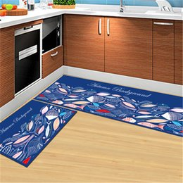 Wholesale toilet water - Multi-color Kitchen Carpet 2pcs set Large Anti-slip Bathroom Carpet For Toilet WC Rug Water Absorption Bed mat Non-slip Door Mat Bedroom Rug