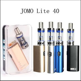Wholesale Top E Cig Tanks - Top Quality Jomotech lite 40 mod kit jomo mini lite 40w e cig box mod vaporizer kits 2200mah battery 3ml tank