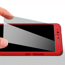 Protector de pantalla de teléfono de plástico online-360 Plastic + 9H Protector de pantalla de cristal templado para Huawei P9 P10 Lite Honor V9 Mate 9 Samsung S7 J5 J7 2016 cajas del teléfono