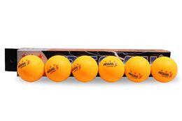 6pcs / pack 3-Star 40mm 2.7g Pelotas de tenis de mesa Pingpong Ball Amateur Advanced Training Ball Estándar Internacional desde fabricantes