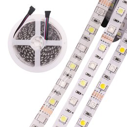 Wholesale Waterproof Led Rope Lighting - 5M 5050 LED Strip light Tape DC 12V RGB RGBW RGBWW Holiday Decoration lamp LED String Ribbon 60LEDs M Waterproof Flexible rope stripe light