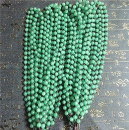 jade jadeite pendant Australia - 50PCS LOT AAANatural Dongling jade beads hand knitting beads string emerald green men and women's jadeite pendant sweater chain