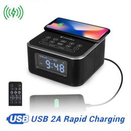 Canada InstaBox W33 Radio FM avec haut-parleur Bluetooth Alarme Support lecteur MP3 Chargeur sans fil pour iPhone Samsung Télécommande Horloge supplier alarm clock radio for iphone Offre
