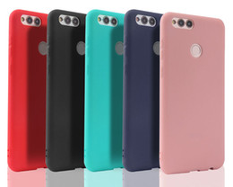 Wholesale v8 cover - Ultra Thin Slim Candy Color Matte Frosted Soft TPU Silicone Rubber Anti-shock Cover Case Skin For Huawei Honor V10 V9 V8 9 8 7 Lite 7x 6x