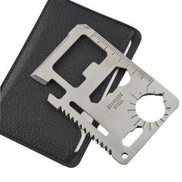nuevas navajas suizas Rebajas 1 unid multi herramientas 11 en 1 multifunción supervivencia de caza al aire libre acampar bolsillo militar tarjeta cuchillo plata