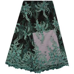 Argentina Tela africana del cordón 2018 cordones nigerianos bordados Tela nupcial tela francesa del cordón de tul de alta calidad para mujeres boda A1307 Suministro