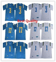 Wholesale Cheap American Football Shirts - Josh Rosen jerseys 2017-18 UCLA Bruins American college football shirts mens 17 Christian Pabico 1 Soso Jamabo white blue cheap clothing