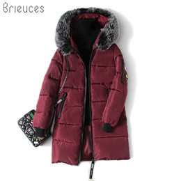 Wholesale Women Snow Jacket Fur - Fashion Snow Wear Large Fur Collar Ladies Coats 2017 Winter Coat Women Parka Long Thick Slim Womens Coats And Jackets Outerwear