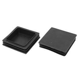 Canada 100mm x 100mm en plastique à nervures carrées End Cover Caps Inserts 2 Pcs cheap square plastic cover Offre