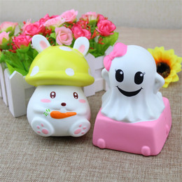 Wholesale Ghost Kid - White Ghost Squishy Slow Rebound Toy Lovely Rabbit Squishies Decompression Toys Kid Halloween Gift 28 5rf CR