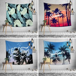Decorazioni di cocco online-Estate cocco appeso a parete arazzo 8 design multifunzione spiaggia asciugamano scialle stampa picnic stuoia tovaglia lenzuolo festa decorazione della casa