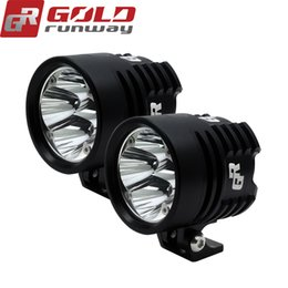 Wholesale spot light high powered 12v - 2PCS GOLDRUNWAY GR EXP4 Super Bright High Power 24W 3000 Lumens Motorcycle Led Light Spot White Headlight Working Light DC 12V