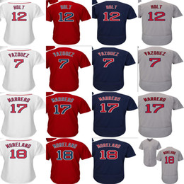 ladies jerseys NZ - Mens Ladies Kids 2017 Boston Postseason Brock Holt Christian Vazquez Mitch Moreland Deven Marrero Cool Flex Baseball Jerseys Stitched LOGO